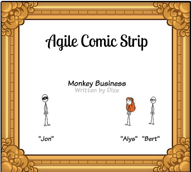 Monkey business comic strip